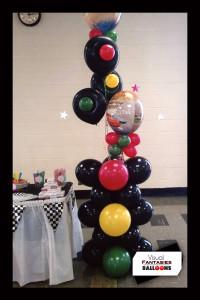 BalloonBirthdayCarsThemePillar