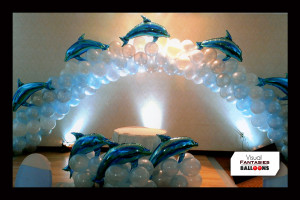 BirthdayBalloonsThemedArchesDolphinTheme