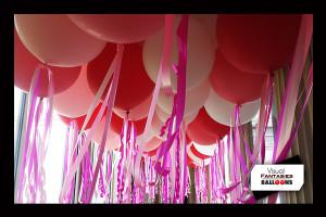 PinkWhite&RedCeiling liner